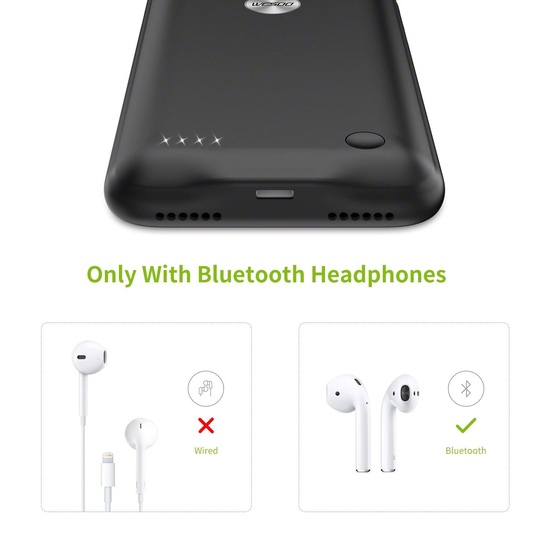 "Wesoo Batería Cargador Externa Ultra Fina para iPhone 7 / 8 2800mAh 4,7"" (Color Negro): Amazon.es: Electrónica"