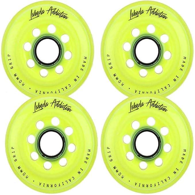 Labeda Inline Roller Hockey Skate Wheels Addiction Purple 76mm 4 Set Bones Swiss