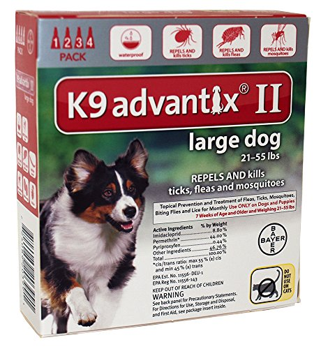 PSL Advantix II (Rd) Dog (21-55) 4 Month- New Label