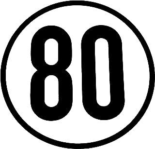 WAMO Geschwindigkeitsschild 80km/h
