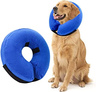 AhlsenL Inflatable Comfy Cone for Dogs Cats Protective Soft Pet Recovery Collar After Surgery Prevent Dogs from Biting & Scratching