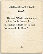 William Shakespeare - Hamlet - Doubt Thou The Stars - 11x14 Unframed Typography Book Page Print - Great Gift for Book Love...