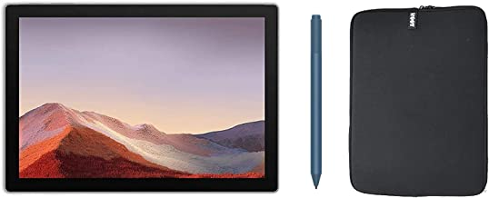 $786 » Newest Microsoft Surface Pro 7 12.3 Inch Touchscreen Tablet PC Bundle with Blue Surface Pen and WOOV Sleeve, Intel 10th Ge...