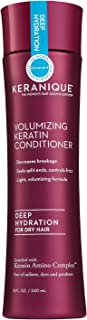Keranique Volumizing Keratin Conditioner Deep Hydration for Hair Growth and Thinning Hair | Keratin Amino Complex, Free of Sulfates, Dyes and Parabens, 8 Fl Oz