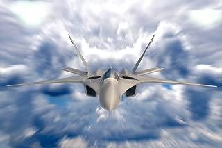 FA 18 Hornet Supersonic Combat Jet in Deep Blue Sky Photo Photograph Cool Wall Decor Art Print Poster 18x12