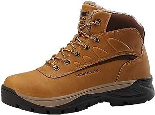 JIANYE Bottes de Neige Homme Antidérapant Chaussures de Marche Confortable Chaudes Bottes de Randonnée Imperméable
