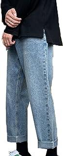 Generic11 Pantaloni in Denim da Uomo Primavera e Autunno Pantaloni Larghi a Gamba Dritta Non Facili da sbiadire Jeans Vers...