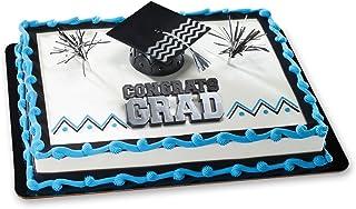 DECOPAC Congrats Grad Silver DecoSet Cake Topper