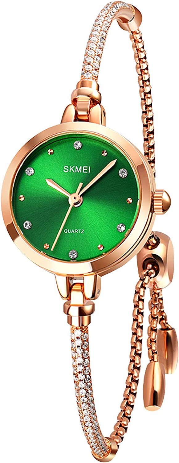 SKMEI Women Watch Rectangle Minneapolis Mall Rose Max 85% OFF Stainless Steel Wat Gold Silver