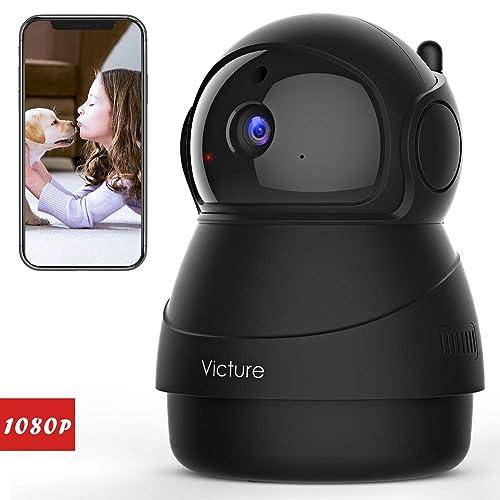 Victure 1080P Cámara IP WiFi,Cámara de Vigilancia FHD con Visión Nocturna, Cámara de