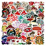 100pcs Aesthetic Mushroom Stickers Pack for Water Bottle,Cute Vinyl Waterproof Decals for Laptop Scrapbooking Journaling Hydroflask Bicycle Car Phone, Mushroom Decor Gifts for Adults Teens Girls Boys