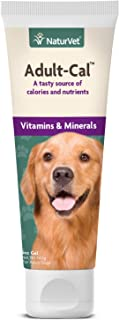 NaturVet – Adult-Cal Nutritional Gel for Dogs Plus Vitamins & Minerals – 5 oz – Nutrient Rich, High Energy Source of Calor...