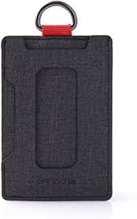 Dango S1 Stealth Wallet - Jet Black - Durable DTEX Material, Water Resistant, RFID Blocking, Made in USA