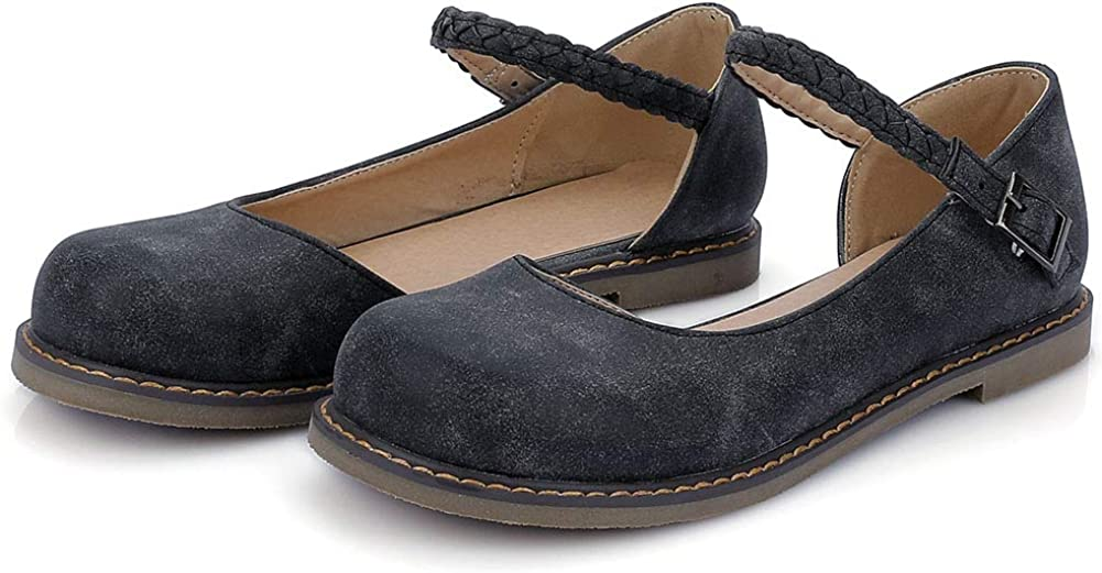 VIMISAOI Women's Sweet Colorado Springs Mall Mary Jane Flats Slip Ank Fresno Mall On Comfort Belt