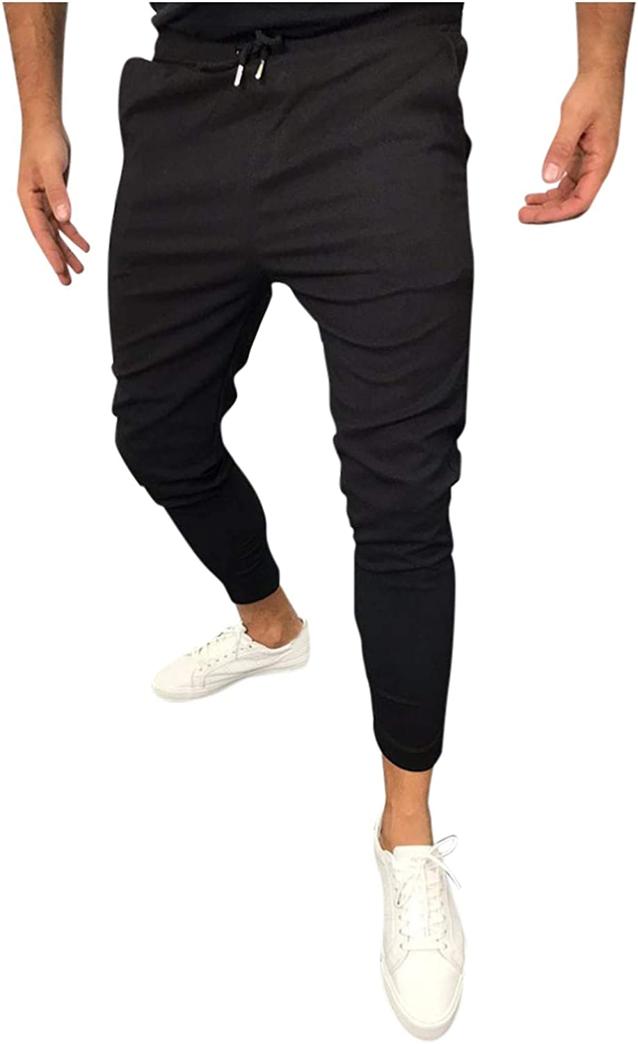 PHSHY Jogger Sport Pants for Men Casual Drawstring Slim Fit Straight Leg Pencil Gym Workout Sweatpants with Pockets