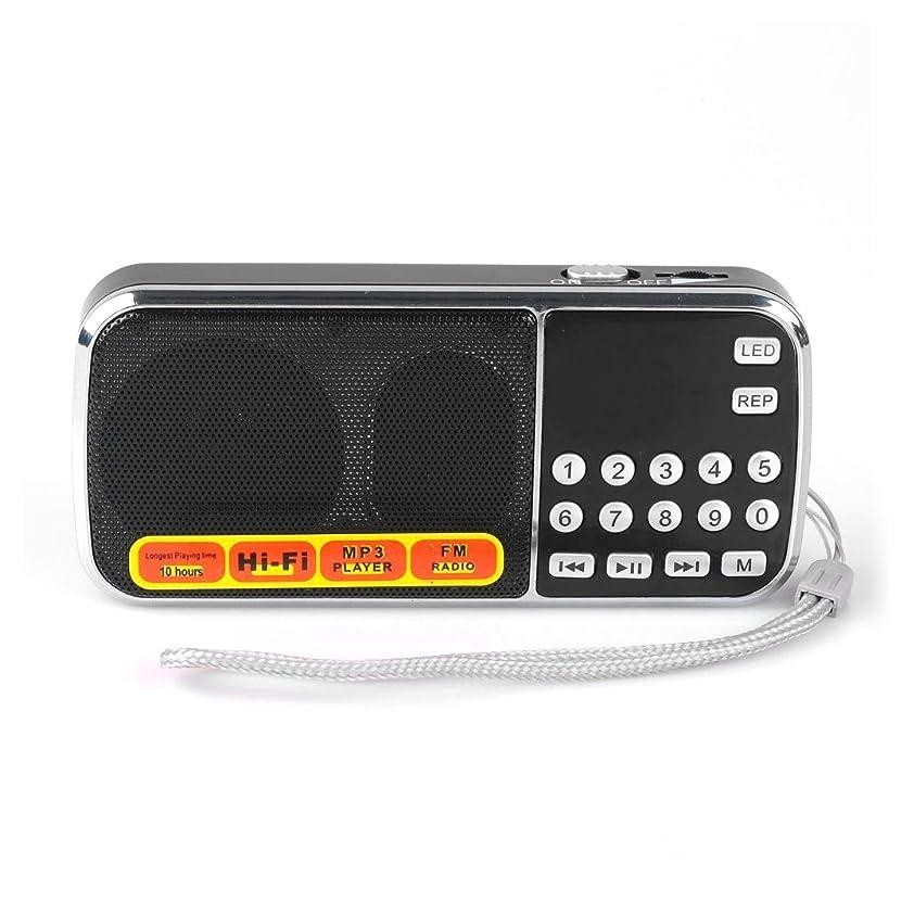 埋める取り囲むライターRadioddity ポータブルラジオ 充電式 FM対応 ポケットラジオ デジタル 小型 FMラジオ LEDライト USBメモリ マイクロSDカード対応 MP3プレーヤー