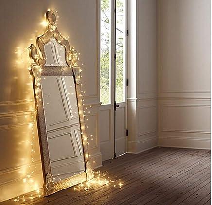 Salcar 910002 - Catena luminosa a LED, Bianco caldo, 10 metri
