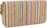 styleBREAKER Porte-Monnaie avec Motif Multicolore en Zig-zag Style...
