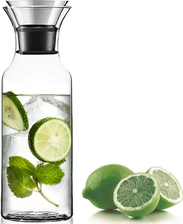 WUWEOT 33 security OZ Glass Carafe Borosilicate Water Jug Online limited product Beverag