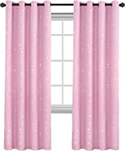 Blackout Kids Room Curtains Twinkle Stars Blockout Bedroom Curtain Draperies for Boys/Girls - Thick Soft Fabric with Eyele...