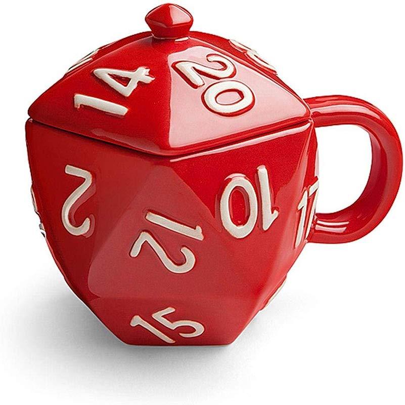 Critical Hit D20 12 Oz Ceramic Mug W Lid