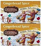 Celestial Seasonings Gingerbread Spice Herbal Holiday Tea Bags, 20 ct, 2 pk