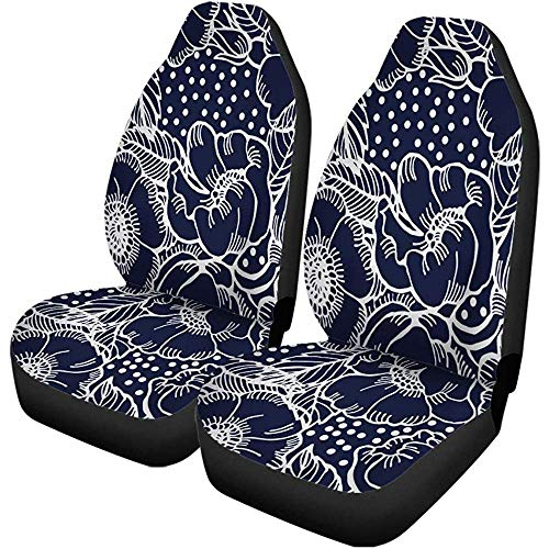BUXI Printing Drivers Seat Cover,Pink Flower Rose Pattern Abstract Lea