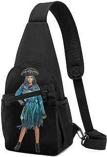 Hdadwy Descendants 2 Uma Hombres Mujeres Crossbody Sling Mochila Sling Bag Travel Senderismo Bolsa de pecho Mochila negra