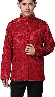BLINGLAND Chinese Traditional Uniform Top Kungfu Shirt for Men