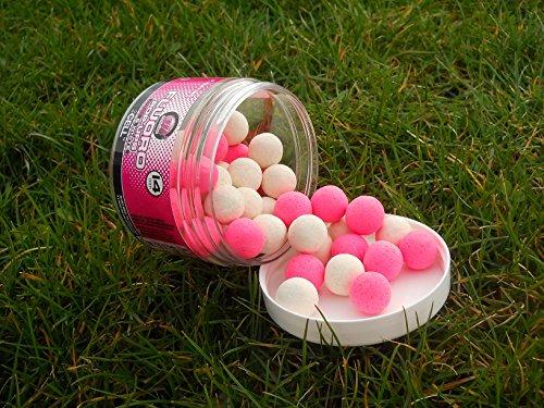 Mainline Fluoro Pop Ups Pink & White 14mm Cell Popups Popup Hakenköder