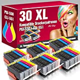 ms-Point 30 kompatible Druckerpatronen PGI-550 CLI-551 mit CHIP für Canon