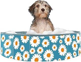 RANRANHOME Simbassäng för husdjur, vikbar pool för husdjur, badkar barn bollgropar barn paddling bad pool för trädgård ute...