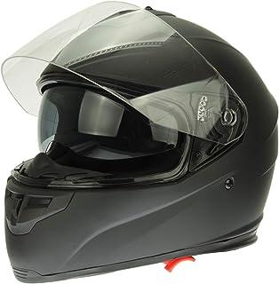 Mach1 Integralhelm Helm Motorradhelm mit Integrierter Sonnenblende ECE R 22.05 Größe XS bis XXL   Schwarz Matt