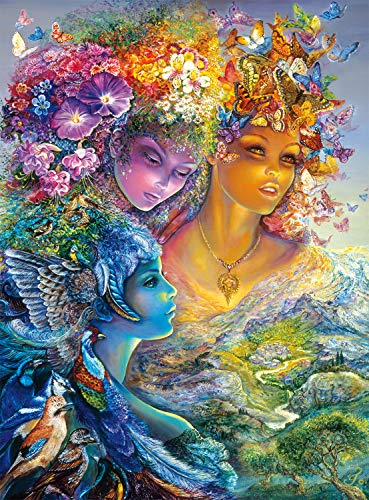Buffalo Games The Three Graces Glitter Edition by Josephine Wall Jigsaw Puzzle (1000 Piece) by Buffalo Games