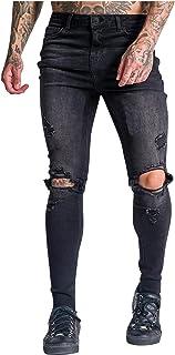 Men Pants,Men Striped Zipper Denim Vintage Wash TrendWork Trousers Jeans Pants Casual Wear