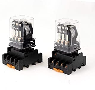 X-DREE 2 Pcs JTX-3C high performance DC 24V Coil essential 11P 3PDT General well made Purpose Power Relay + Socket(d40-d6-...