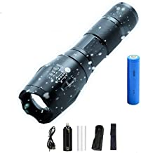 Zaklamp, led, 12000 lm, ultra helder, waterdicht, camping-zaklamp, T6/L2/V6, 5 modi, zoombaar, licht, met 18650, draagbare...