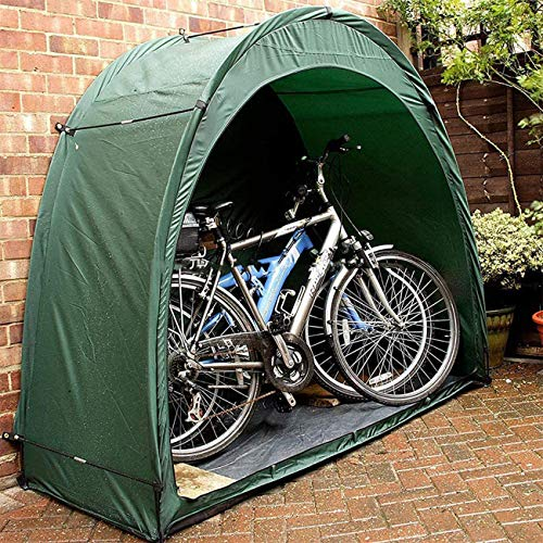 QSMGRBGZ Bicycle Tent Bicycle Storage Shed Bicycle Garage Tent For Bicycle Bike Garden Moped Moped Scooter UVM Can Hold THREE Bicycles Easy To Carry,Green