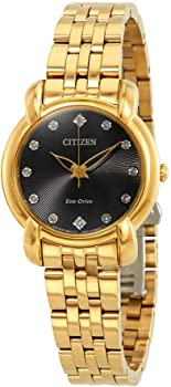 Citizen Jolie Black Diamond Dial Ladies Watch