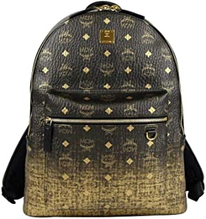 MCM Women's Gold/Black Gradient Coated Canvas Medium Backpack MMK9AVE79CG001
