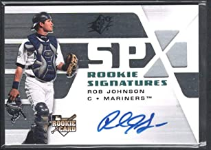 BIGBOYD SPORTS CARDS ROB Johnson 2008 SPX Rookie SIGNATURES #138 Autograph Seattle Mariners RC
