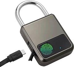 Vingerafdruk Hangslot Smart Fingerprint Identification Hangslot Lock 20 Groepen Vingerafdruk Opslag voor Lockers (Kleur: B...
