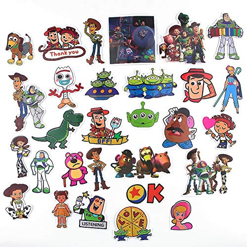 Cartoon Movie Toy Story Themed 29 Piece Sticker Decal Set for Kids Adults - Laptop Motorcycle Skateboard Decals