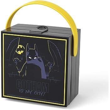 LEGO Batman Lunch Box with Handle/Portable Storage Box - Black