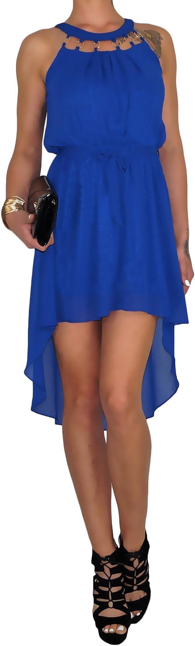 Dresscode Berlin Db Damen Chiffon Cocktail Abendkleid Im Toga Stil In Schwarz Weiss Mintgrun Blau Und Rot L Xl Blau Amazon De Bekleidung
