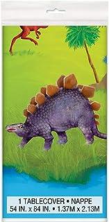 "Dinosaur Plastic Tablecloth, 84"" x 54"""