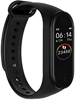 Smart Sports Band Heart Rate Blood Pressure Monitor M4 Sports Band Fitness Tracker Sport Band (Black)