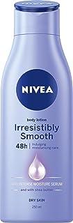 NIVEA Irresistibly Smooth Moisturising Body Lotion & Moisturiser with Intense Moisture Serum & Shea Butter for Dry Skin, 2...
