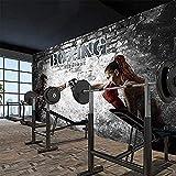 Cualquier tamaño abstracto boxeo gimnasio belleza chico sala de estar sofá TV muebles para el hogar impermea Pared Pintado Papel tapiz 3D Decoración dormitorio Fotomural sala sofá mural-400cm×280cm