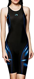 PHINIKISS Women's Competitive Swimsuits Technical Legsuit Kneeskins One Piece Swimsuit